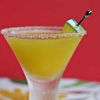 Yellow Watermelon Margarita with Chipotle Rim