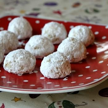 Gluten Free Orange- Almond Snowballs