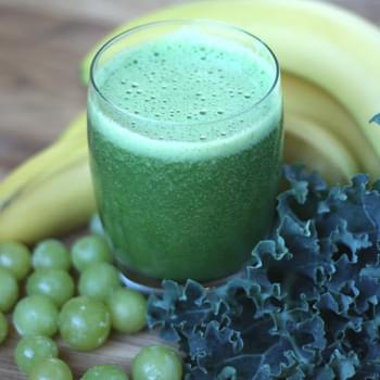 Orange Grape Banana Kale Smoothie