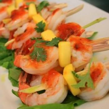 Rum and Brown Sugar–Glazed Shrimp