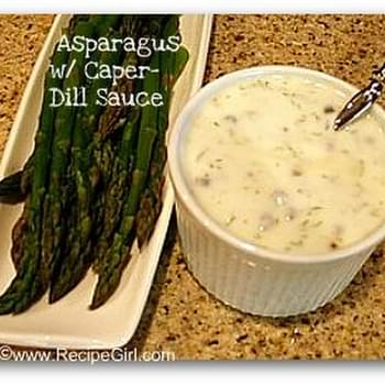 Asparagus with Caper- Dill Sauce