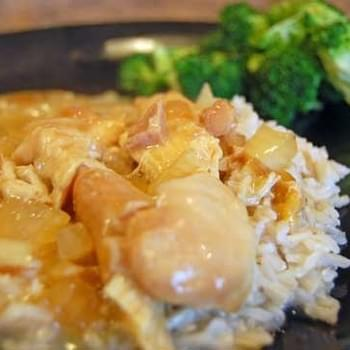 Slow Cooker Chicken and Gravy over Rice