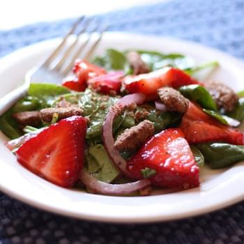 Sweet Strawberry Salad with Cinnamon Pecans