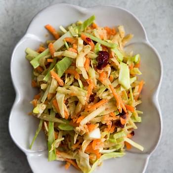 Broccoli Slaw with Cranberry Orange Dressing