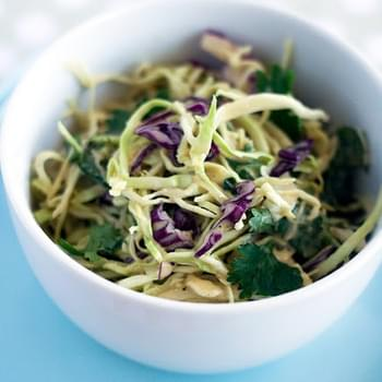 Karina's Vegan Coleslaw with Peanut Dressing