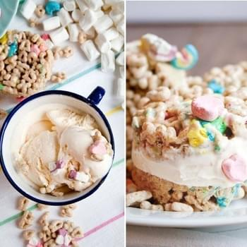 Lucky Charm Ice Cream Sandwiches