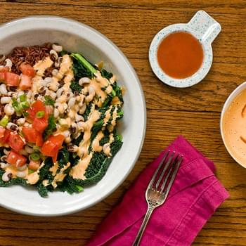Hoppin' John Bowl With Red Hot Tahini
