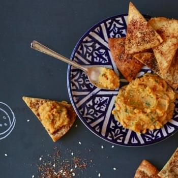 Za'atar-Dusted Pita Chips