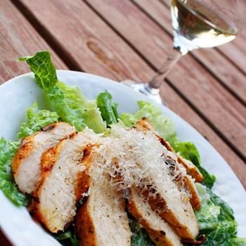 Creamy Caesar Salad with Herb Grilled Chicken