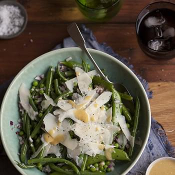Green Bean And Pea Salad With Lashings Of Parmesan