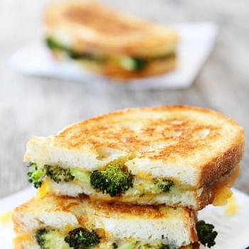 Roasted Broccoli and Grilled Cheese Melt