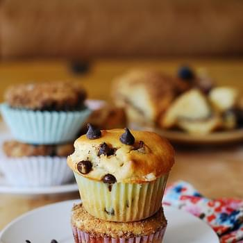 Greek Yogurt Chocolate Chip Muffins