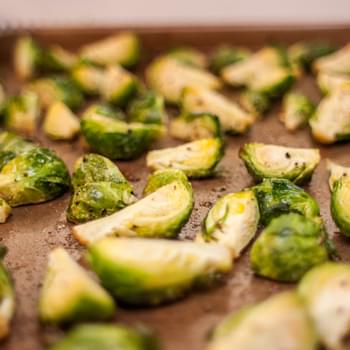 Roasted Brussels Sprouts with Garlic Aioli