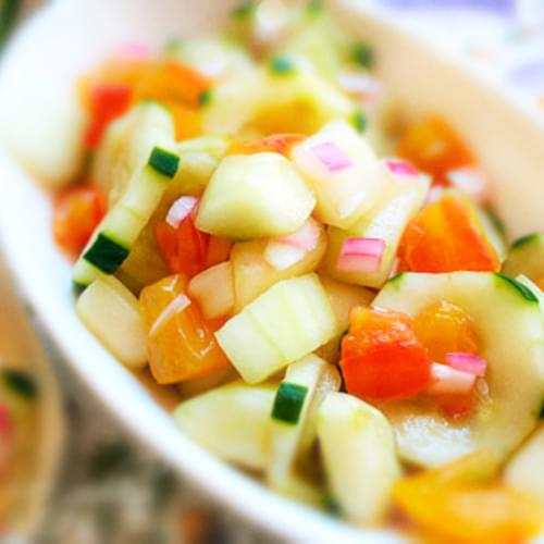 Cucumber Salad Recipe- My Version of Old Liz's Salad, with Agave