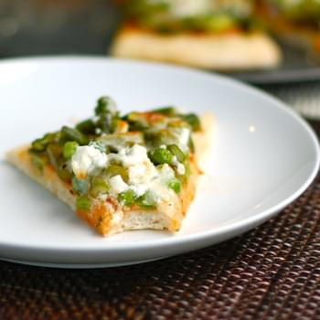 Asparagus, Pea, & Goat Cheese Pizza