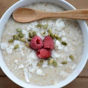 Creamy Coconut Slow Cooker Steel Cut Oats