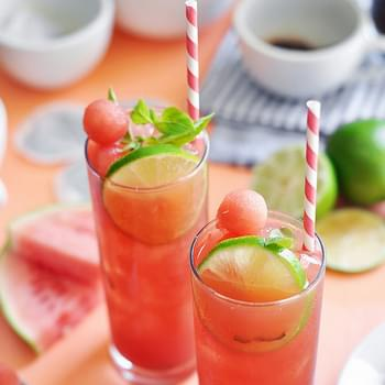 Watermelon Basil Lime Iced Tea