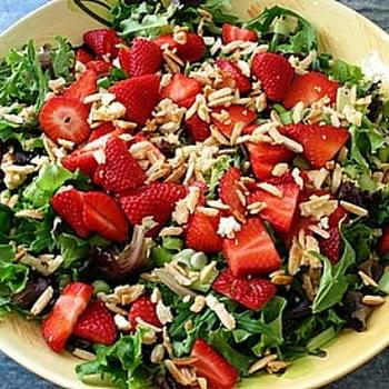 Baby Greens w/ Strawberries & Sugared Almonds