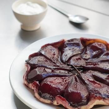 Red Wine Poached Pear Tart