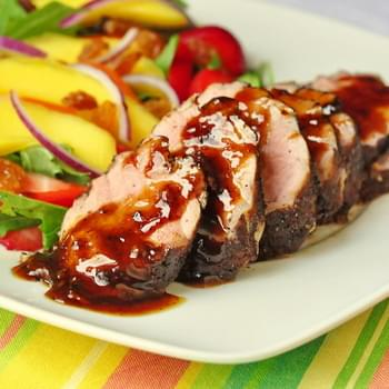 Rum and Spice Glazed Pork Tenderloin