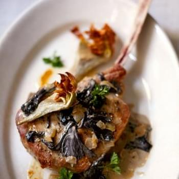Roasted Veal Chops with Artichokes