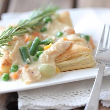 Inside Out Chicken Pot Pies