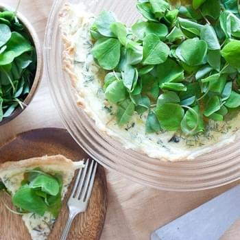 Spring Quiche with Leeks and Sorrel