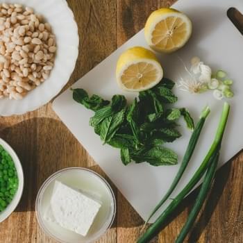 White Bean Salad with Peas and Mint