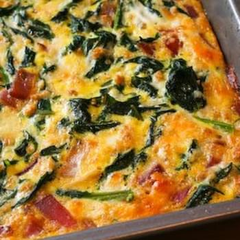 Red Russian Kale and Red Onion Savory Breakfast Squares