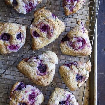 Mixed Berry & Jasmine Tea Scones