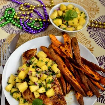 Cajun Chicken with Mardi Gras Salsa