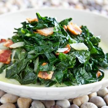 Kale and Bacon Recipe, Caribbean Style