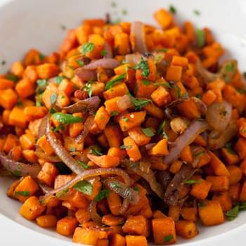 Cumin-Scented Sweet Potato Hash