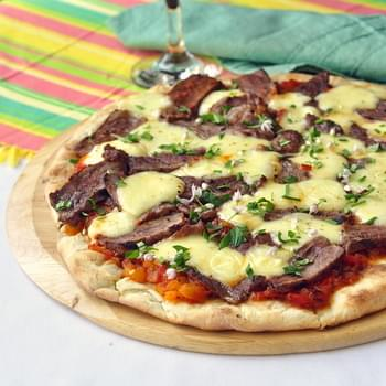 Steak Taco Grilled Pizza