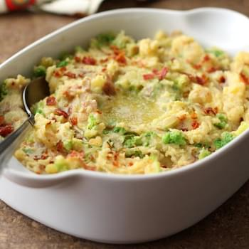 Irish Colcannon ~ Potatoes with Bacon and Cabbage