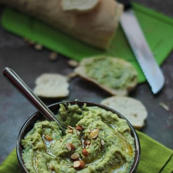 Fresh Fava Bean & Almond Spread (Vegan)