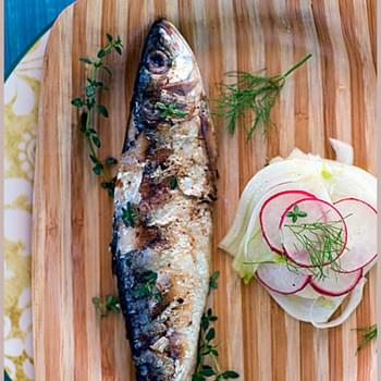 Sardines on the Gril