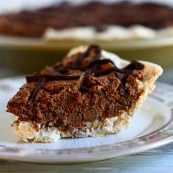 Chocolate Nut Angel Pie