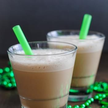 Minty & Boozy St. Patty's Day Iced Coffee