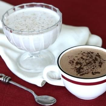 Creamy Hot Cocoa and Egg-Less Nog