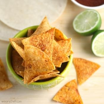 Chili Lime Baked Chips - Born to Be Dipped