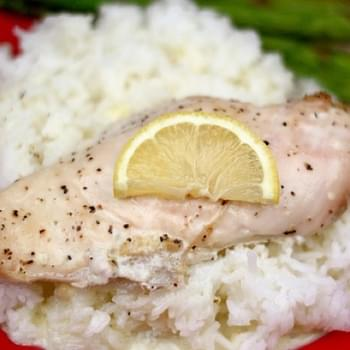 Creamy Lemon Chicken and Rice