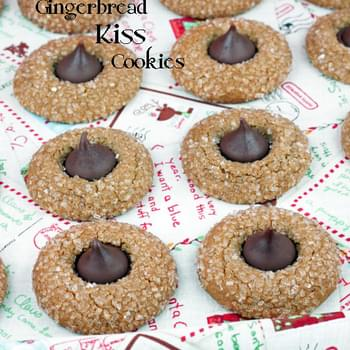 Hershey Kiss Gingerbread Cookies