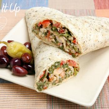 Roasted Veggie & Hummus Wrap