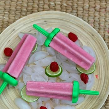 Peach Raspberry Popsicles