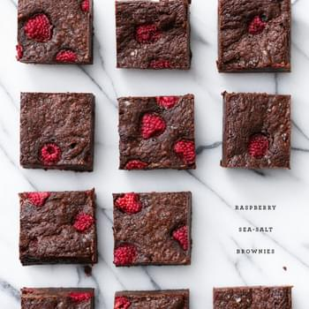 Raspberry Sea Salt Brownies