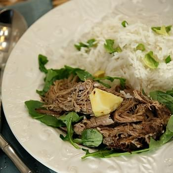 Slow Cooker Green Tea Kahlua Pork #reciperedux