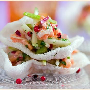 Gingered Salmon Tartar with Radish and Green Apple