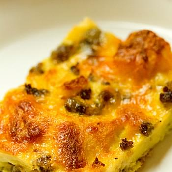 Breakfast Sausage, Egg & Cheese Casserole