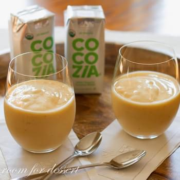 Orange, Banana And Peach Smoothie With Coconut Water